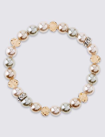 Pearl Effect Sparkle Stretch Bracelet