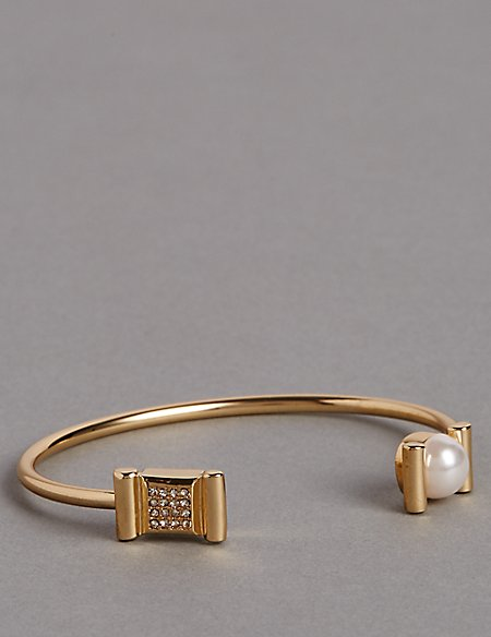 Pearl Pave Cuff Bracelet