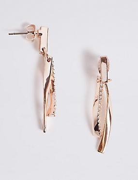 Double Bar Drop Earrings