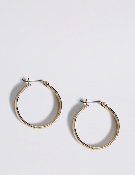 Gold Plated Simple Hoop Earrings