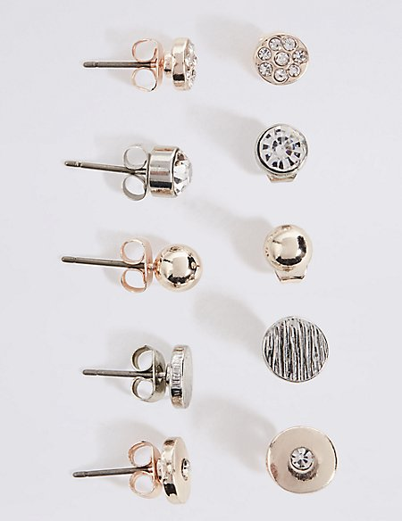 Mixed Stud Earrings Set
