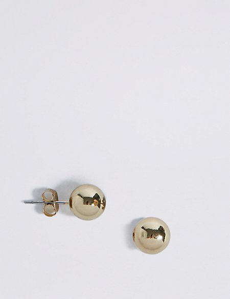 Gold Plated Ball Stud Earrings
