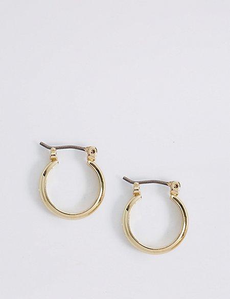 Gold Plated Mini Hoop Earrings