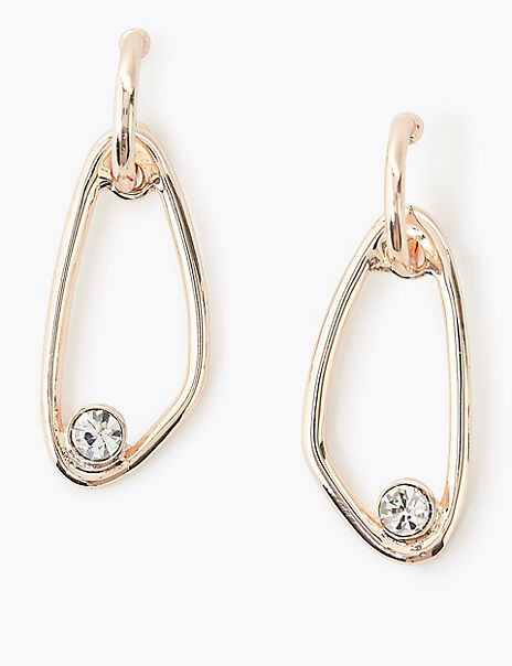 Sitting Crystal Drop Earrings