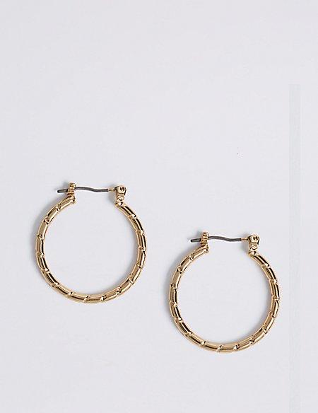 Chip Hoop Earrings