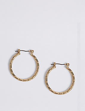 Chip Hoop Earrings