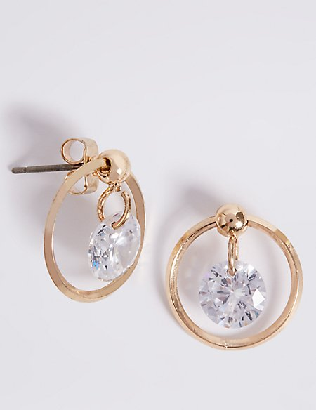 Gold Plated Bling Float Earrings
