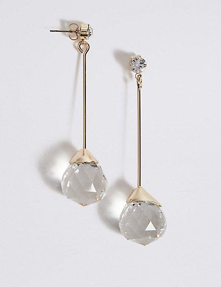 Multi Facet Ball Drop Earrings