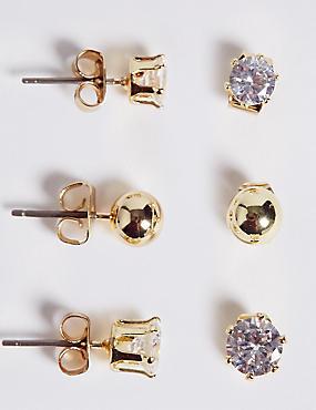 Mixed Stud Earrings Set