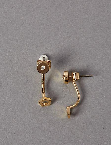 Gold Plated Loop Drop Earrings