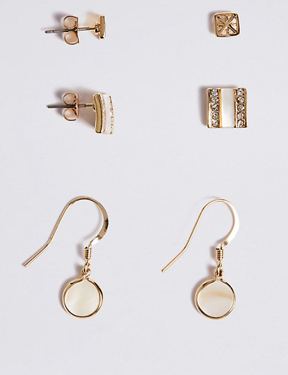 Gold Plated Multi Pack Earrings Set | Jewellery | Marks and