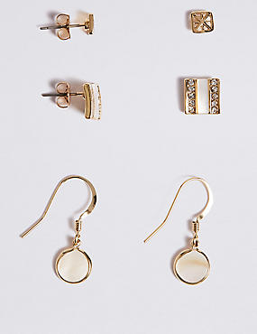 Gold Plated Multi Pack Earrings Set