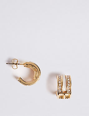 Gold Plated Cutwork Hoop Earrings