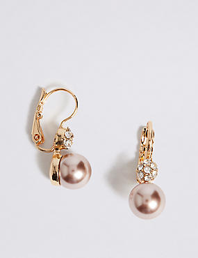 Pearl Effect Drop Earrings