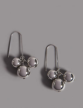 Ball Cluster Drop Earrings