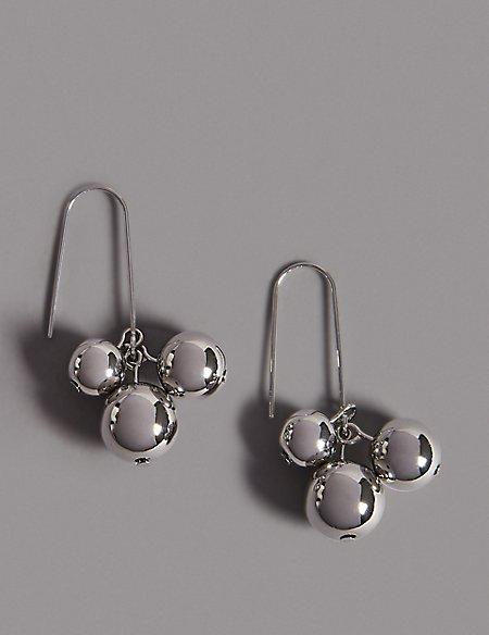 Ball Cluster Drop Earrings