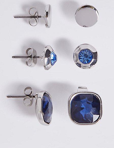 Multi Bling Earrings Set