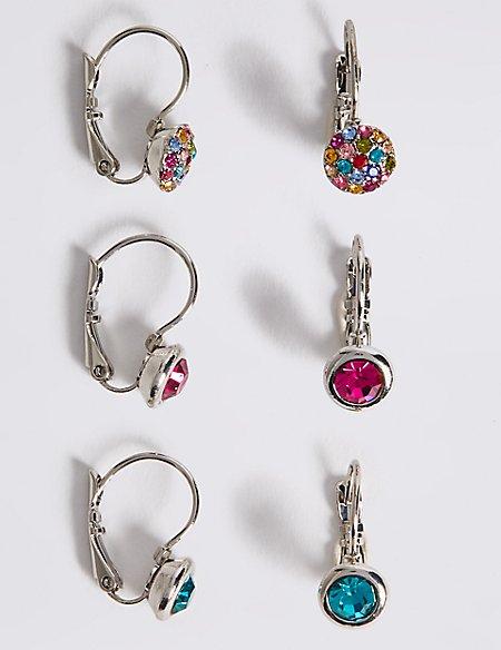 Multi Bling Stud Earrings Set