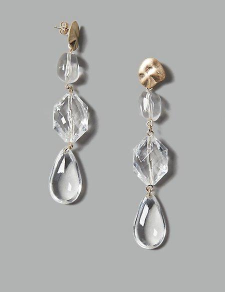 Iced Rock Drop Earrings