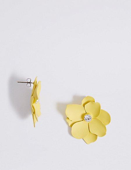 Soft Flower Stud Earrings