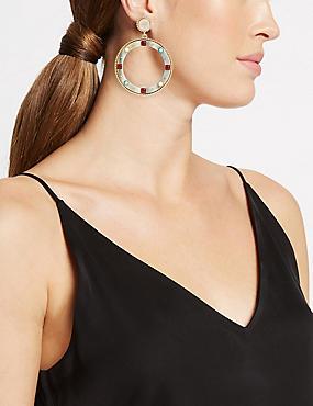 Mini Gems Statement Hoop Earrings