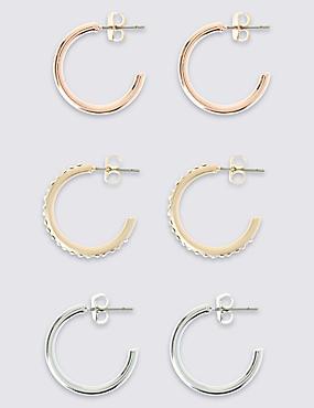 Mini Hoop Earring Set