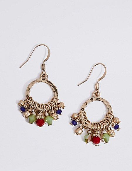 Mini Cluster Hoop Earrings