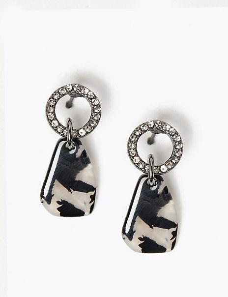 Resin Shard Drop Earrings