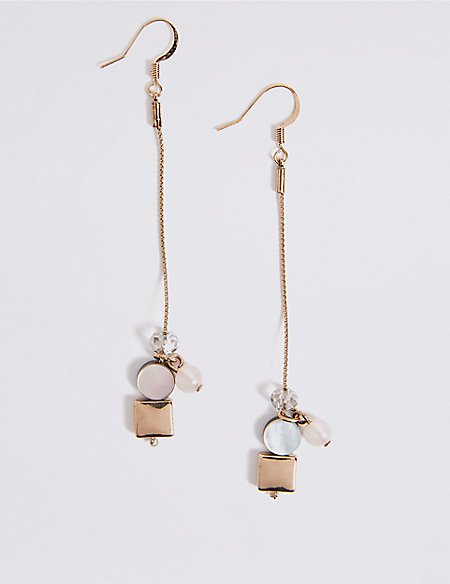 Slinky Cube Drop Earrings