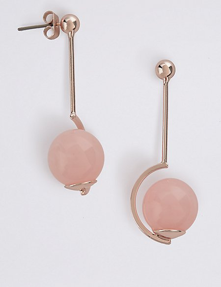 Axis Bead Drop Earrings