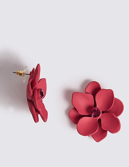 Berry Flower Stud Earrings