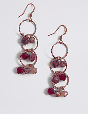 Mixed Berry Drop Earrings