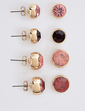 4 Pack of Stud Earrings Set