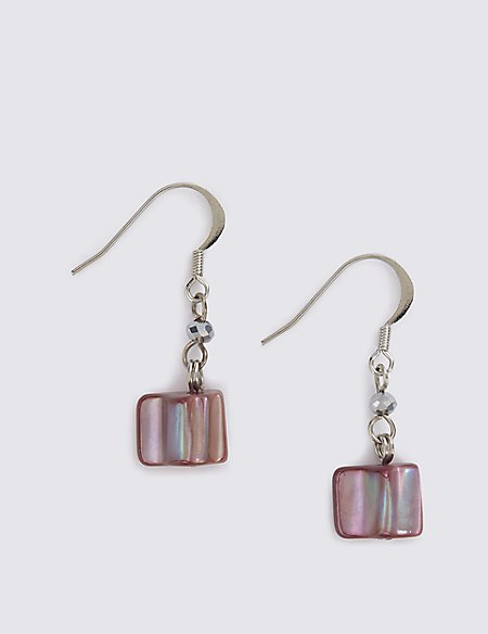 Shell Chip Drop Earrings
