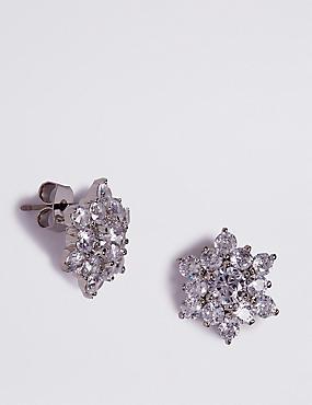 Platinum Plated Star Stud Earrings