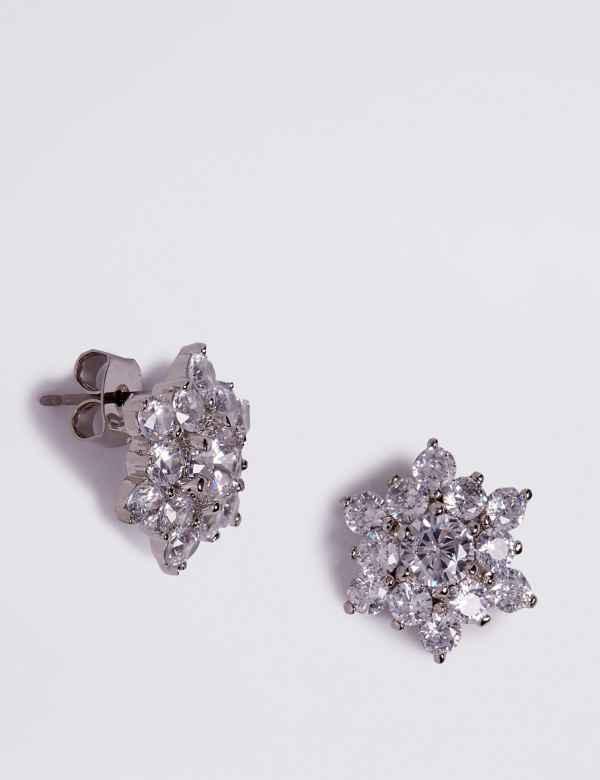 7fefc3665 Platinum Plated Star Stud Earrings