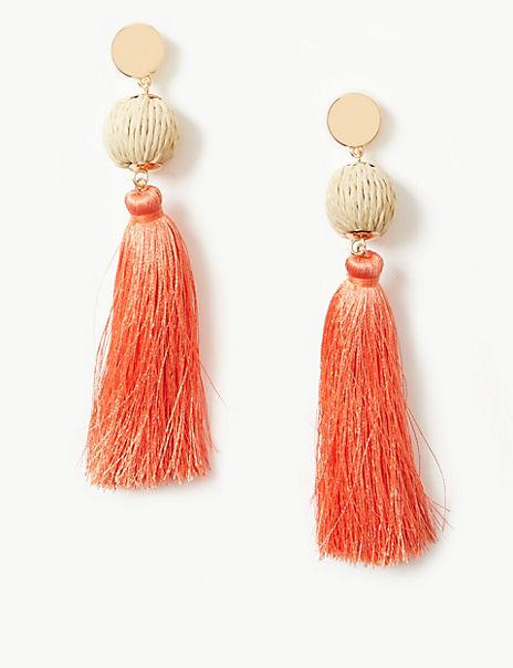 Ball Tassel Drop Earrings