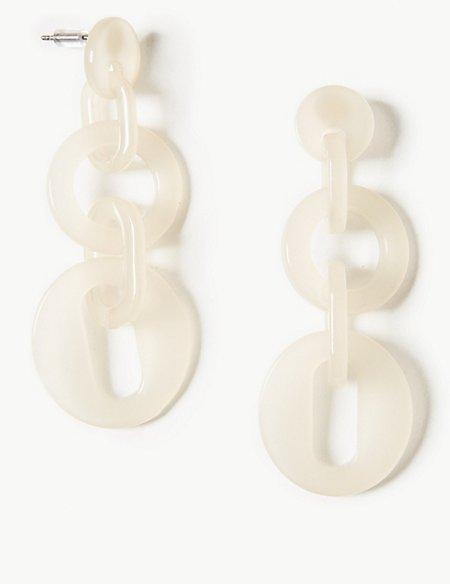 Resin Links Drop Earrings