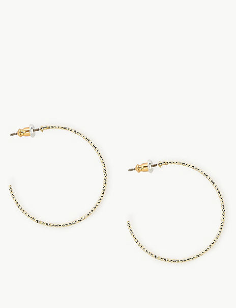 Hammer Texture Hoop Earrings