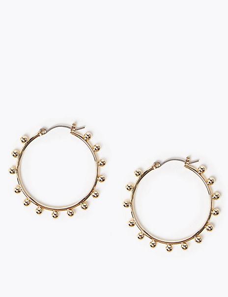 Bobble Hoop Earrings
