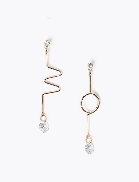 Zig Zag Drop Earrings
