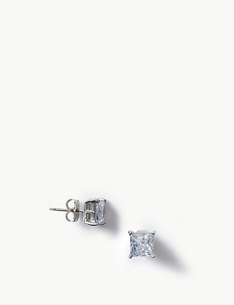 Platinum Plated Stud Earrings