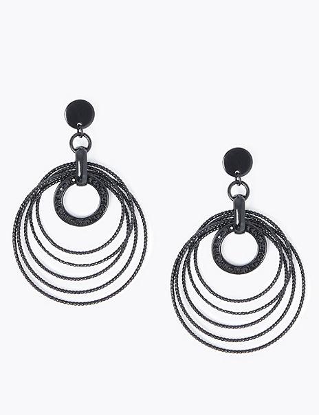 Spinning Circle Drop Earrings