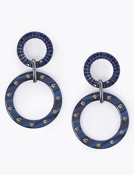 Jewel Linked Drop Earrings