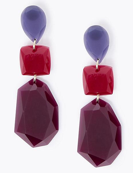 Jewel Trio Drop Earrings