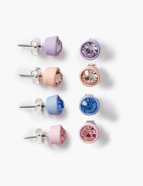 34786cb67680 4 Pack of Stud Earrings Set