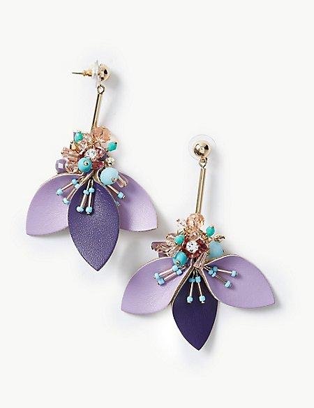 Cluster Petal Drop Earrings