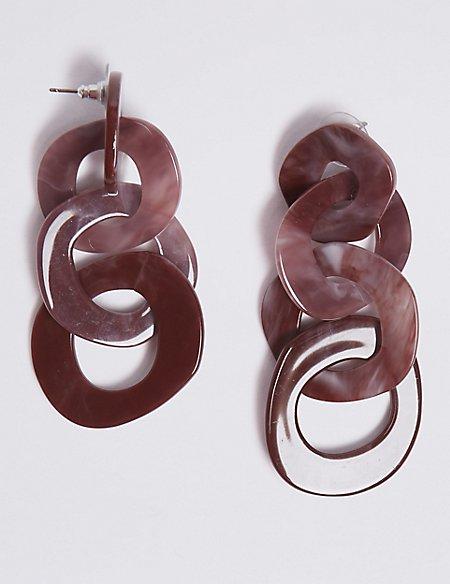 Triple Resin Drop Earrings