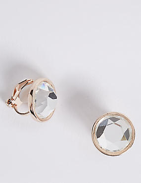 Stone Clip-On Stud Earrings