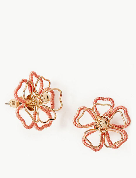 Double Flower Stud Earrings